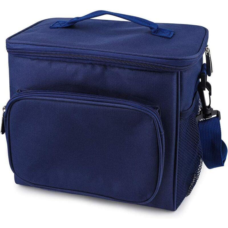 PERLE RARE Isolation déjeuner sac porte-documents sac à outils boîte à bento déjeuner / travail / école / plage / pique-nique bleu-- - Perle Rare