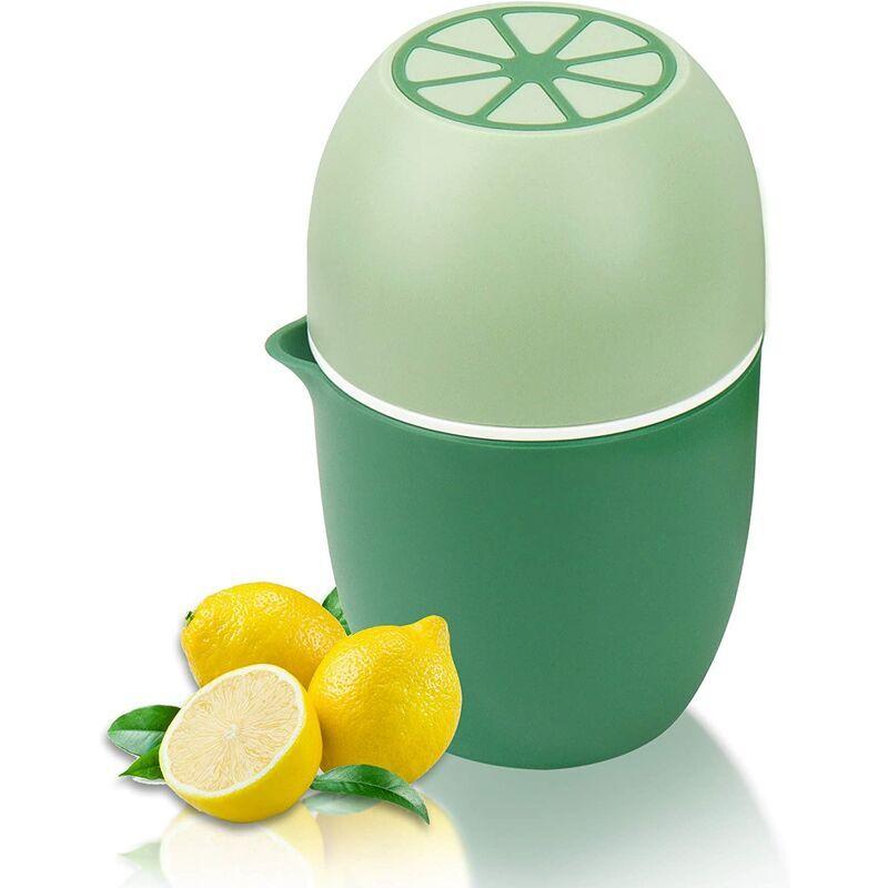BETTERLIFE presse agrume manuel avec un design unique en forme de citron deux modes d'utilisation pour différents fruits (Vert)
