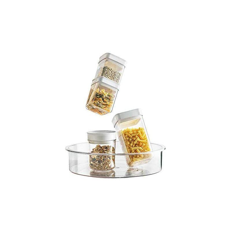BEARSU Récipients de stockage de nourriture hermétiques 6 pièces - Récipients de stockage de garde-manger en plastique sans PBA pour sucre, farine et