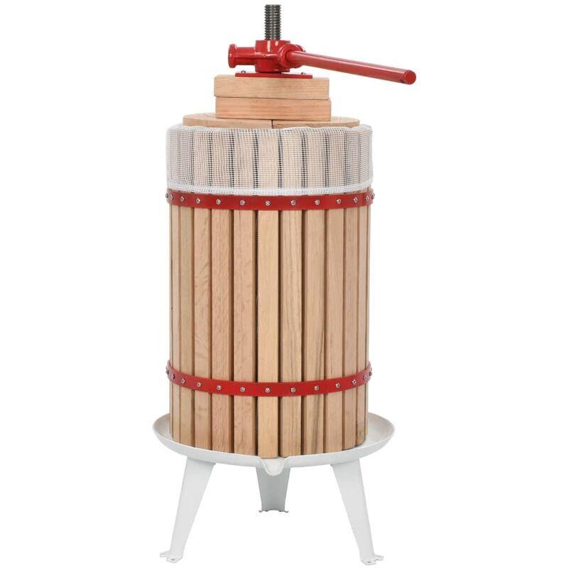 Rogal presse-fruits et à vin avec sac en tissu 24 l bois de chêne Rogal