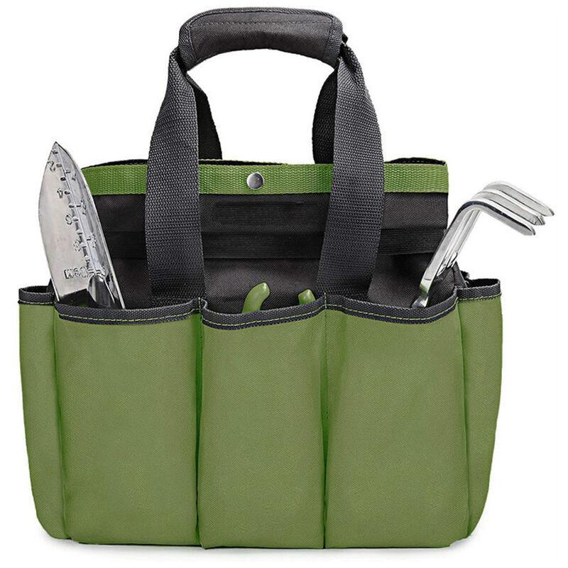 HAPPYSHOPPING Sac a outils de jardin en tissu Oxford 600D vert armee sac a outils de jardinage exterieur sac fourre-tout