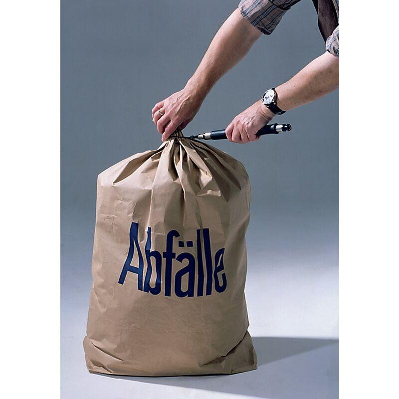 NORDWEST HANDEL AG LAGER Sac poubelle en papier l700xL950mm à 2 couches avec fond à plis croisés 50St./Karton