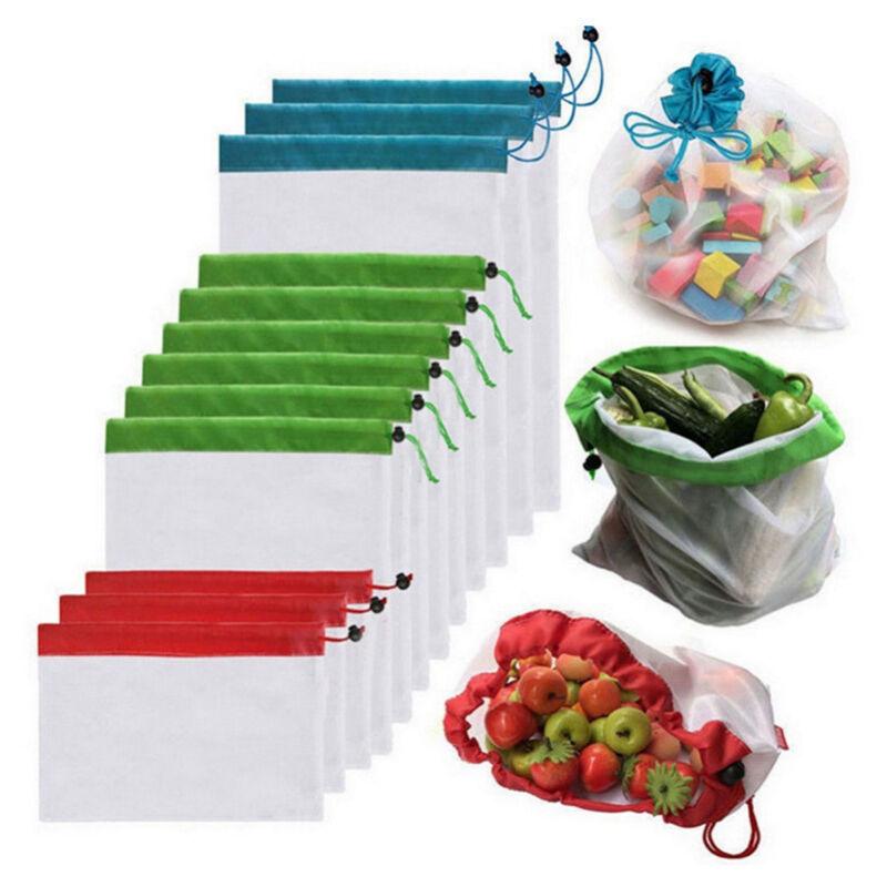 Betterlife - Sac réutilisable en maille pour fruits légumes, filet course écologique, vrac, congélation, pochon alimentaire, provision, nourriture,
