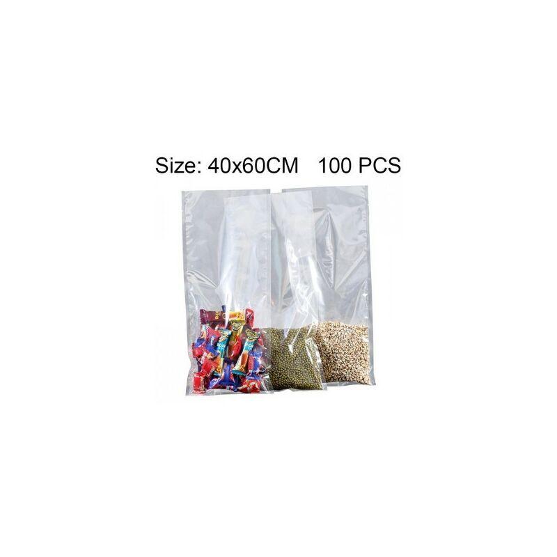 BRICOOLINE Sacoche Emballage sous vide de 100 PCS en plastique transparent pour sac d'emballage transparenttaille 40 cm x 60 cm