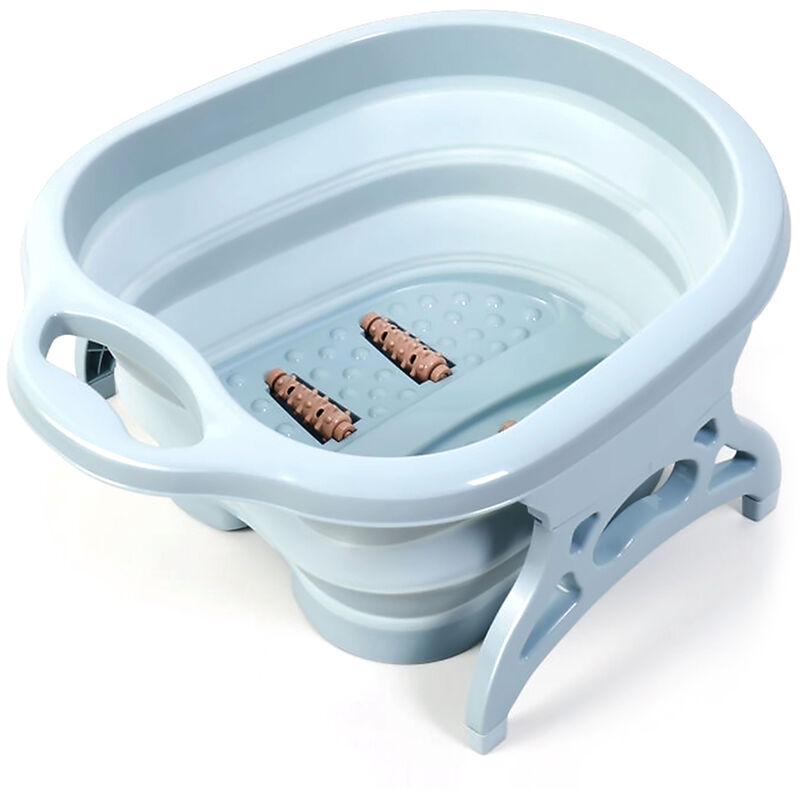 Asupermall - Soins Des Pieds Pliant Spa Portable Pied De Lavage Massage Seau Voyage Pliant Seau Avec 4 Boules De Massage Pieds Bain En Hiver