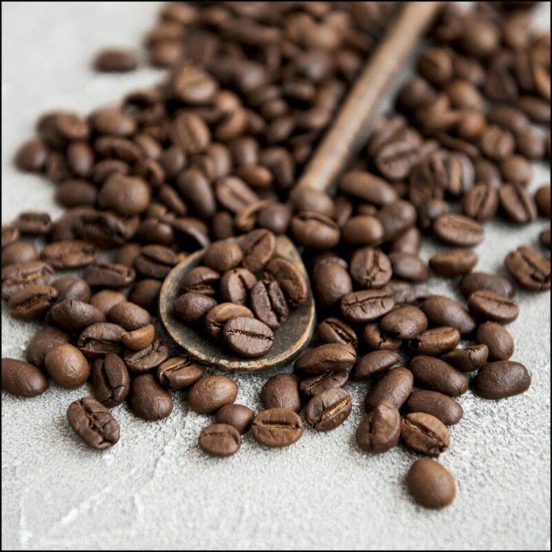 Ceanothe - Tableau encadré à la finition mate Cafe En Grain 60x60 cm - Marron