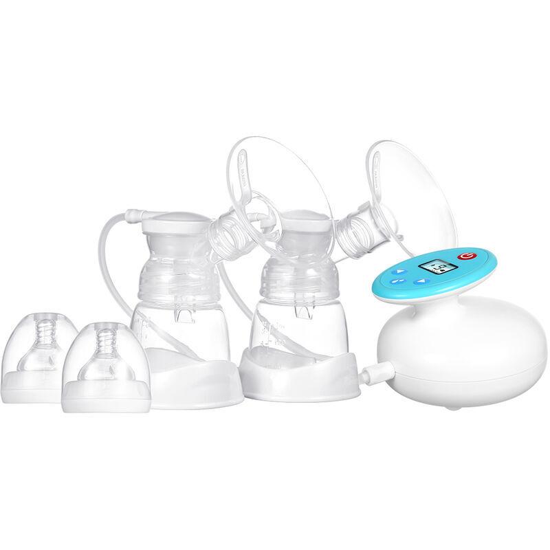 Happyshopping - Tire-lait electrique portable double, sur et sans BPA, double mode de massage et de pompage 9 niveaux d'aspiration, pompage de lait