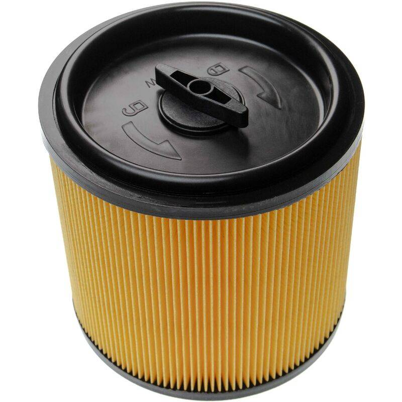 VHBW Filtre d'aspirateur compatible avec Lidl / Parkside PNTS 1250 A1, 1250 B2, 1250 C3, 1250 E4 aspirateur - filtre plissé avec couvercle refermable