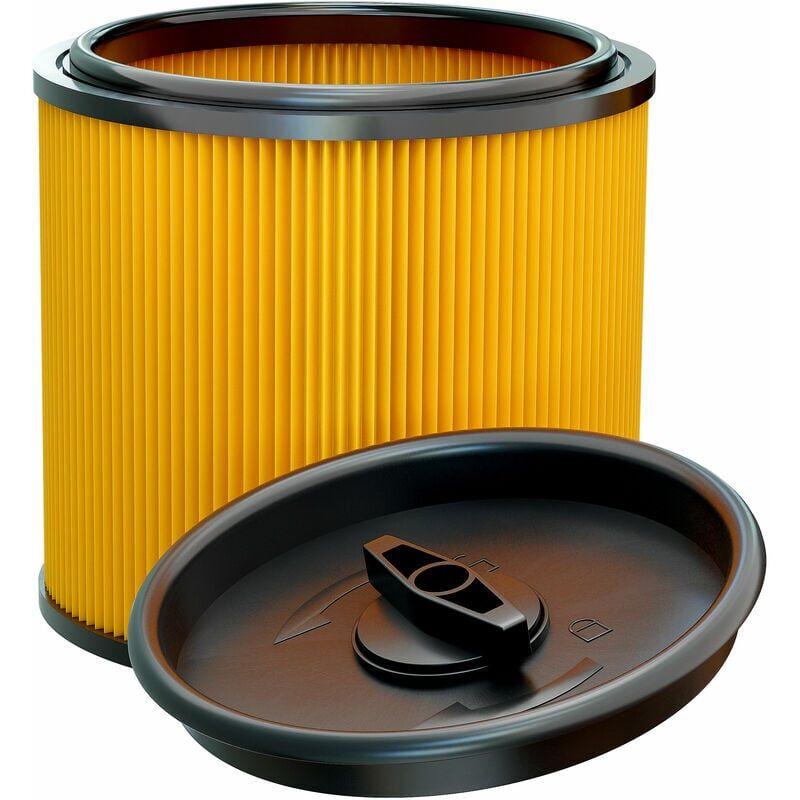 VHBW Filtre d'aspirateur compatible avec Lidl / Parkside PNTS 1300 E4, 1300 F5, 1400 A1, 1400 B1 aspirateur - filtre plissé avec couvercle refermable