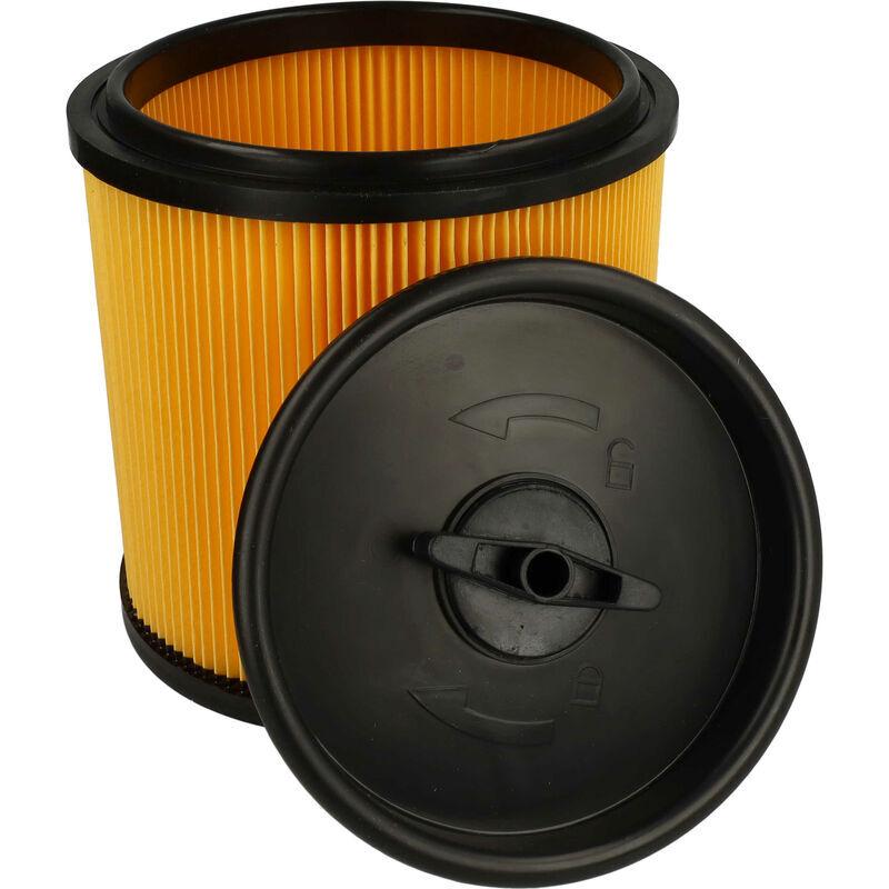 VHBW Filtre d'aspirateur compatible avec Lidl / Parkside PNTS 1400 C1, 1400 D1, 1400 E2, 1400 F2 aspirateur - filtre plissé avec couvercle refermable