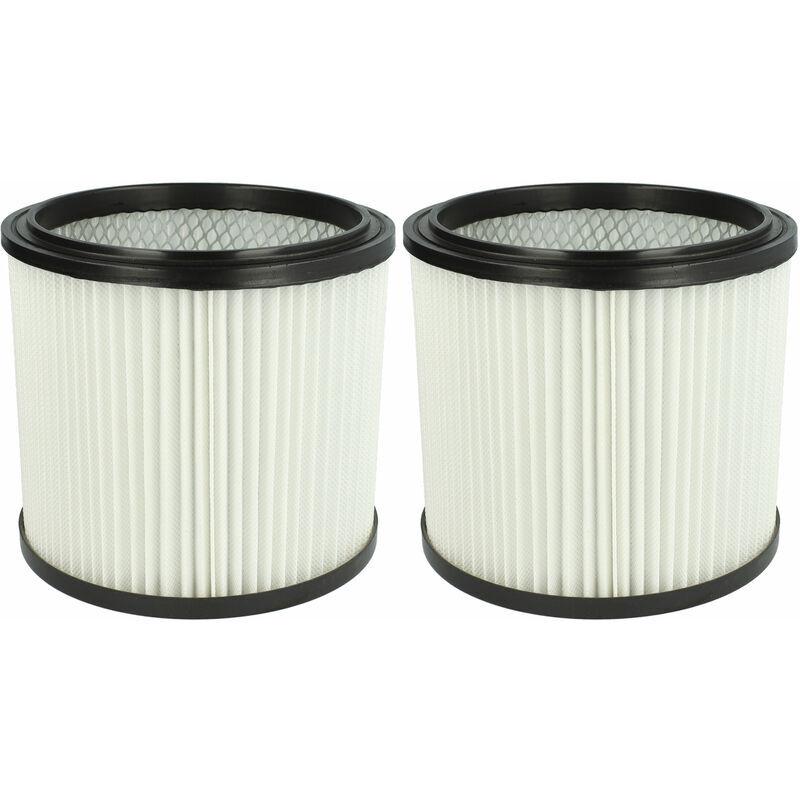 VHBW Set de filtres 2x Filtre plissé compatible avec Parkside A1 Lidl, B1 Lidl, B2 Lidl, PNTS 1300, PNTS 1300(A1) - Filtre à cartouche - Vhbw