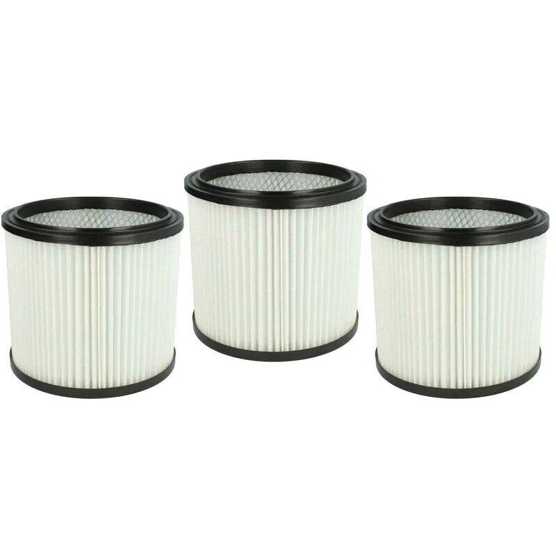VHBW Set de filtres 3x Filtre plissé compatible avec Parkside A1 Lidl, B1 Lidl, B2 Lidl, PNTS 1300, PNTS 1300(A1) - Filtre à cartouche - Vhbw