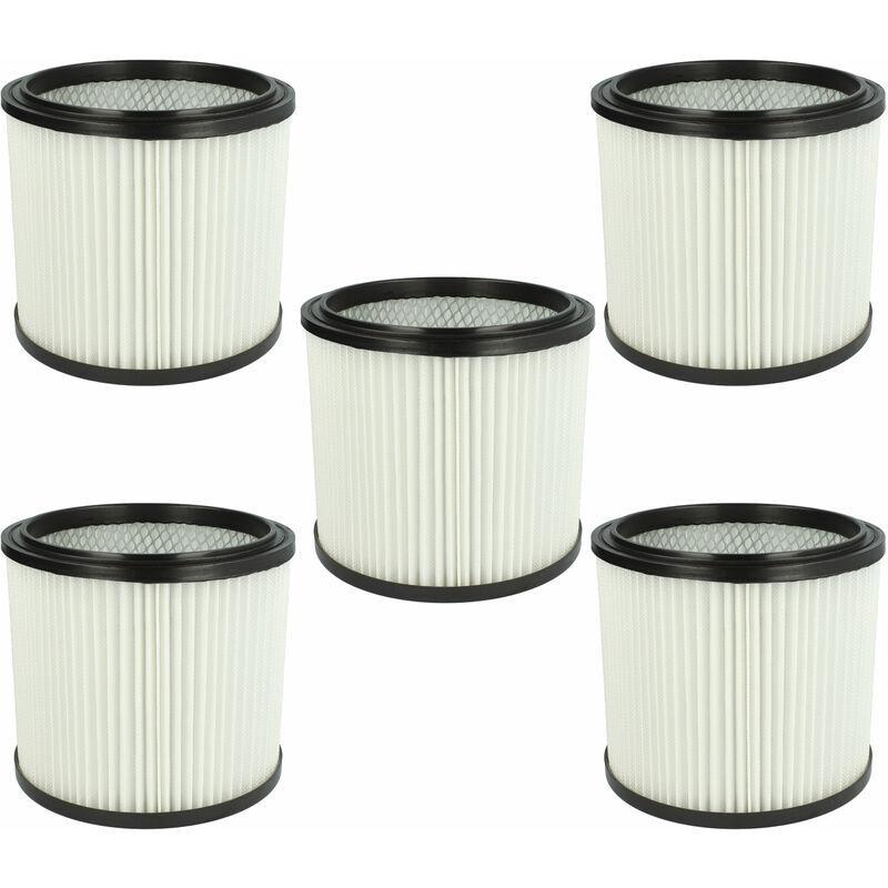 VHBW Set de filtres 5x Filtre plissé compatible avec Parkside A1 Lidl, B1 Lidl, B2 Lidl, PNTS 1300, PNTS 1300(A1) - Filtre à cartouche - Vhbw