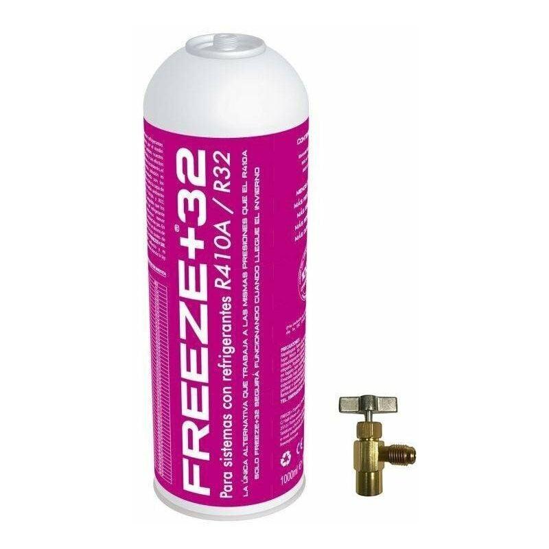 REPORSHOP 1 bouteille gazeux réfrigérant écologique gèle organique +32 350gr + substitut de soupape R32, R410A