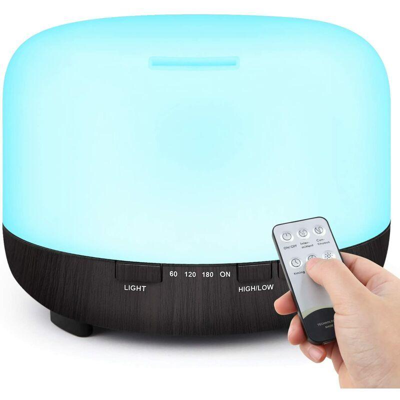 Briday - 500ml Diffuseur d'Huiles Essentielles, Télécommande d'humidificateur Ultrasonique Sans BPA avec 7 Couleurs Lumières LED pour la Maison,
