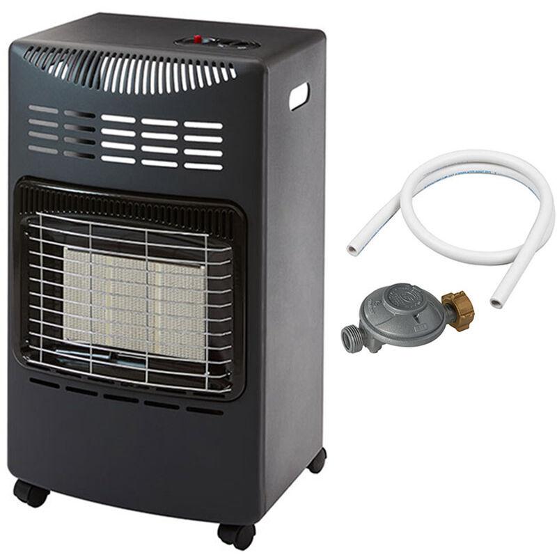 FAVEX Chauffage d'appoint à gaz Visby - Prêt à l'emploi livré avec tuyau et détendeur - Intérieur - Brûleur Céramique Infrarouge - 3 Puissances de Chauffe