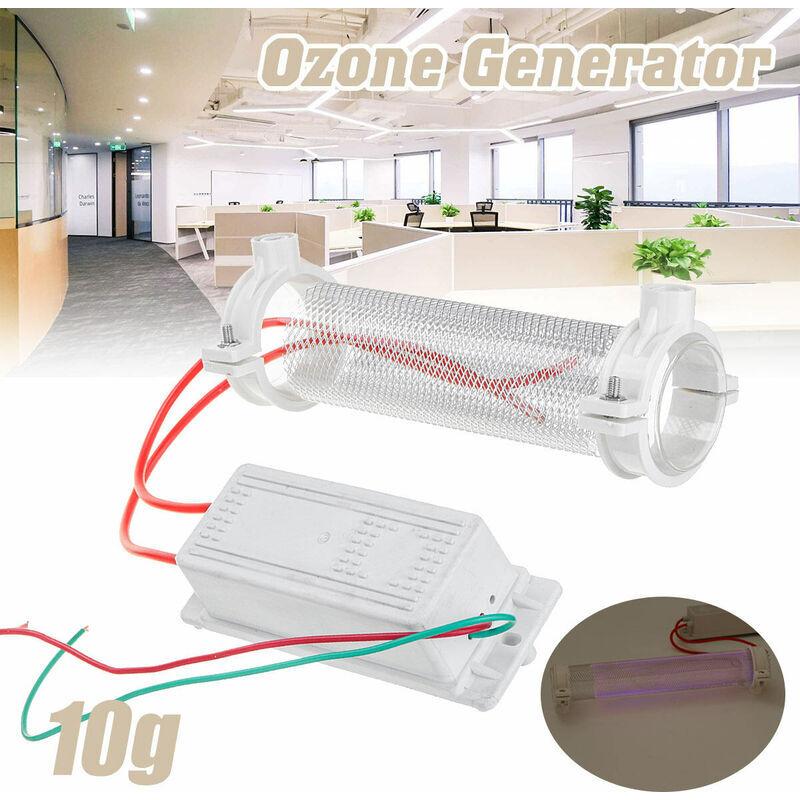 MANTA Accueil Générateur d'ozone Ozonateur Ioniseur Tube Purificateur d'air Tube de quartz 220V Tube de silice Générateur d'ozone 10g 15g 20g (15g - AC220V)