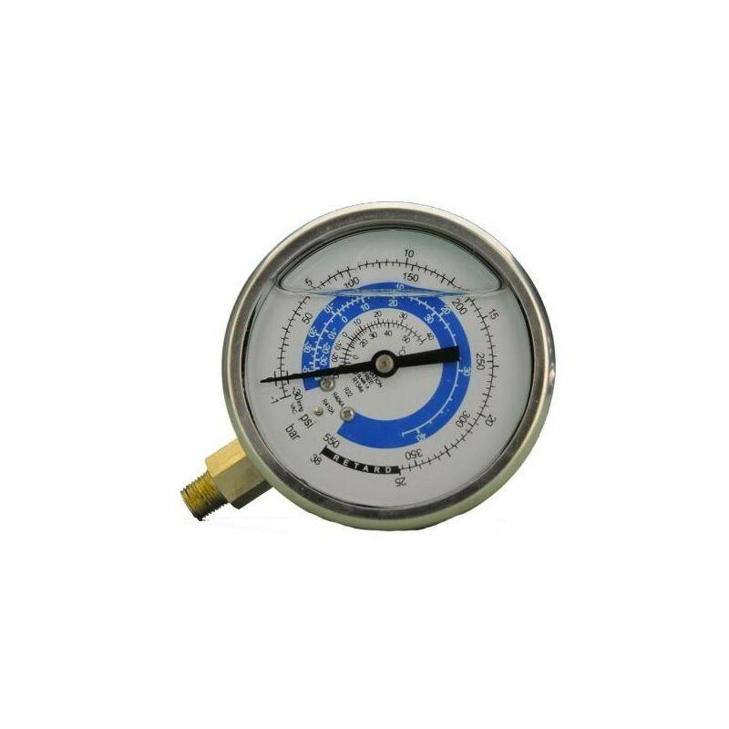 Reporshop - Basse manomètre pression 80mm de glycérine 1/8 R22, R404A, R134A sans pont