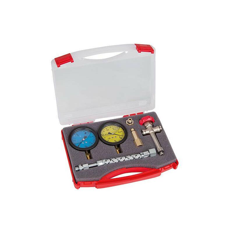 BANYO mallette de vérification P1G complète manomètre et vacuomètre avec glycérine malette en plastique