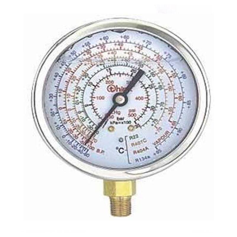 REPORSHOP Manomètre haute pression 80 mm de glycérine fil 1/8 R410A, R407C, R134A sans pont
