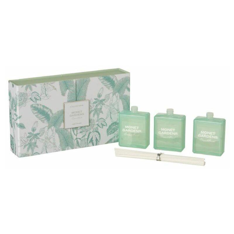 PARIS PRIX Lot De 3 Huiles Parfumées monet Gardens 22cm Azur - Paris Prix