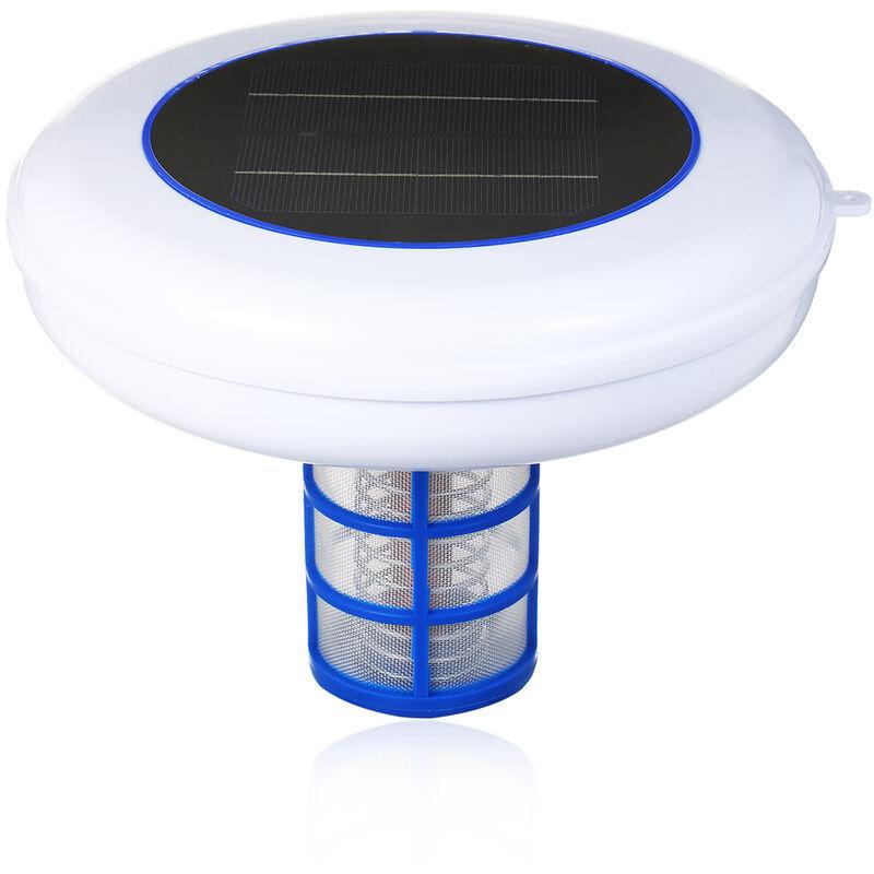 ASUPERMALL Piscine Solaire-Ioniseur Argent Cuivre Ion Piscine Solaire Piscine Ioniseur Purificateur Portable Elimine