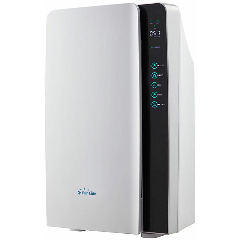 PURLINE Purificateur d'air HEPA, charbon actif, lampe UV et ioniseur pour 35 m² - Blanc