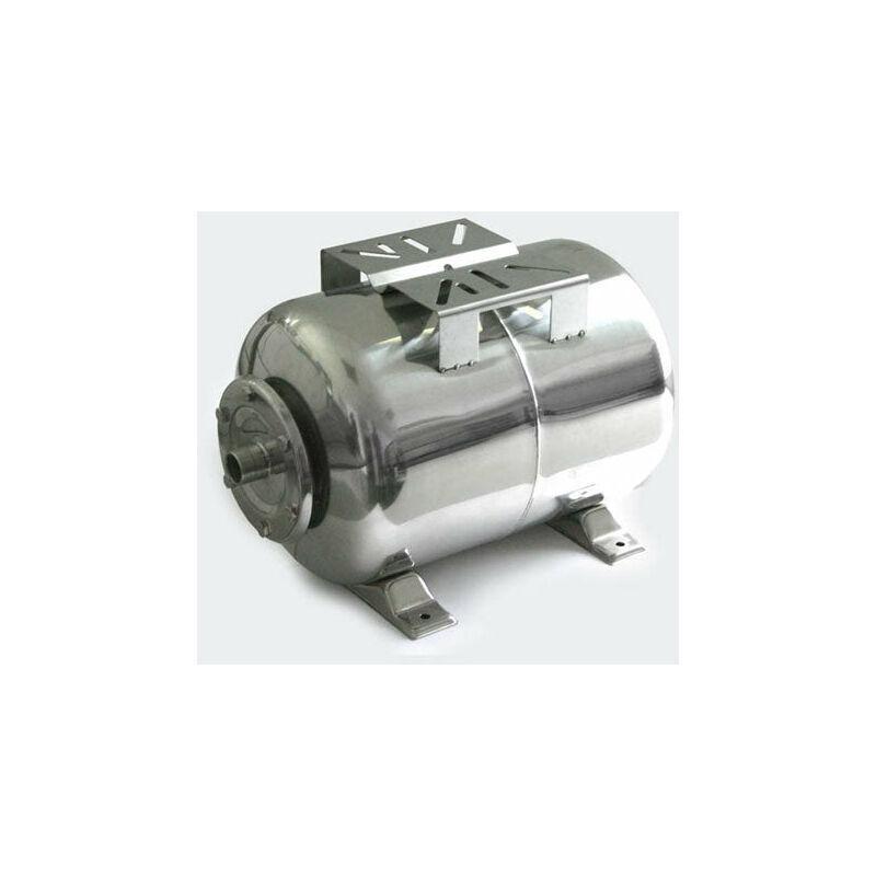 Helloshop26 - Réservoir à vessie pour la surpression domestique cuve ballon 50 litres inox - Argenté