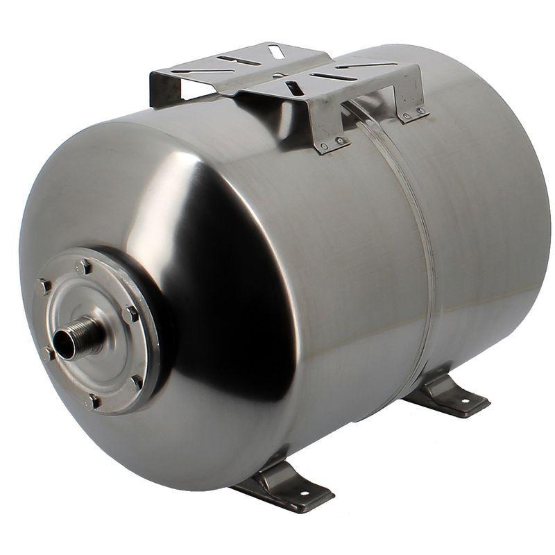 GT MARKET Réservoir pression à vessie horizontal en inox - 50 litres