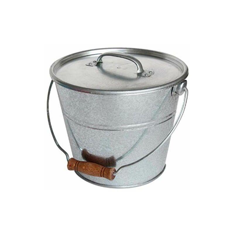 Guillouard - Seau avec couvercle pour cendres granulés ou compost - Gris