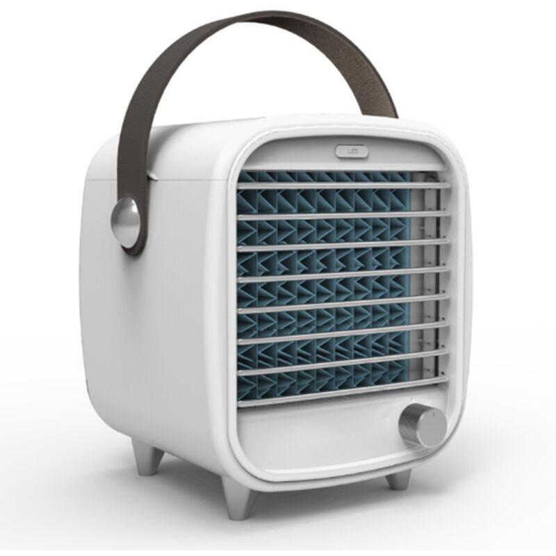 ABCRITAL Ventilateur de refroidissement portable avec glacière, mini climatiseur pour la maison et le bureau, vent super froid, veilleuses