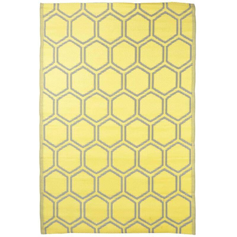 ESSCHERT DESIGN Tapis d'extérieur 182x122 cm Nid d'abeilles - Esschert Design