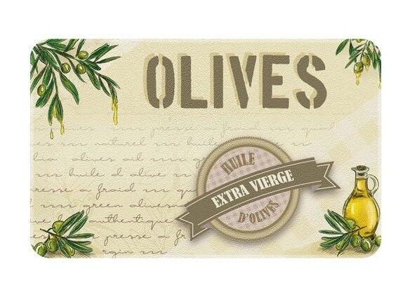 ID MAT - Tapis de cuisine - 50x80 cm - Huile d'olives