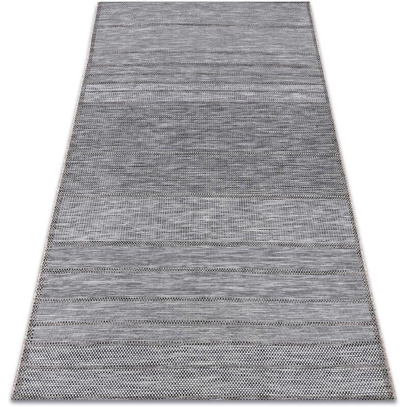 Rugsx - Tapis EN CORDE SIZAL LOFT 21108 Lignes gris / ivoire / argent nuances de gris et argent 160x230 cm