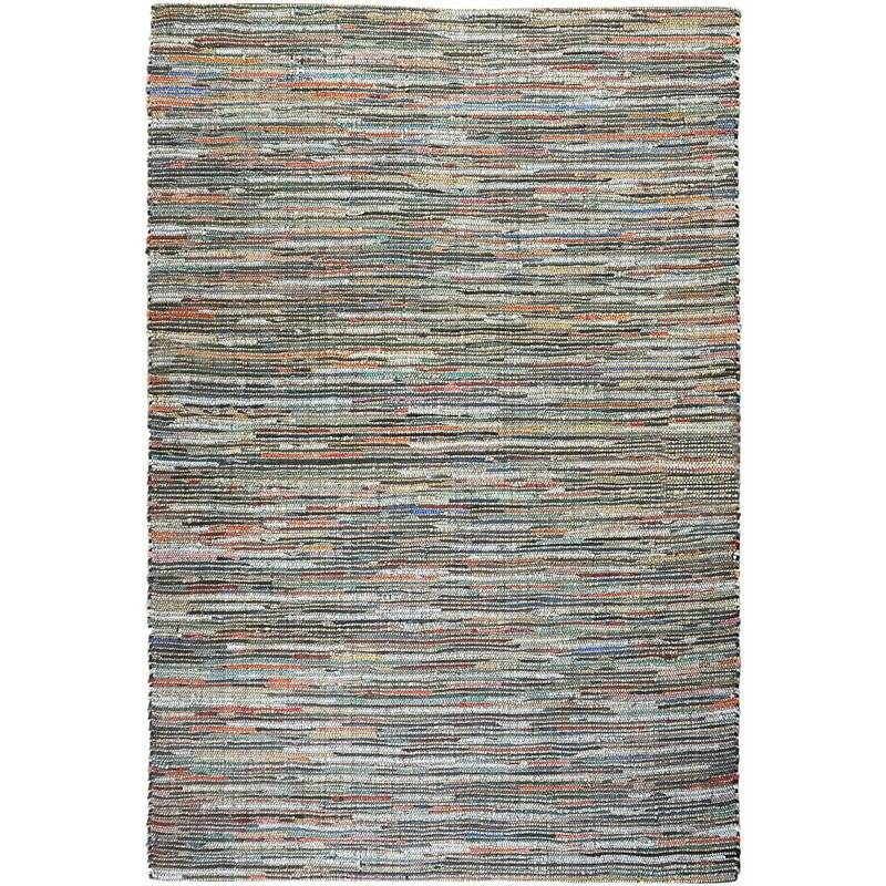 THE RUG REPUBLIC Tapis en cuir et chanvre Spica 180 x 120 cm - Multicolore