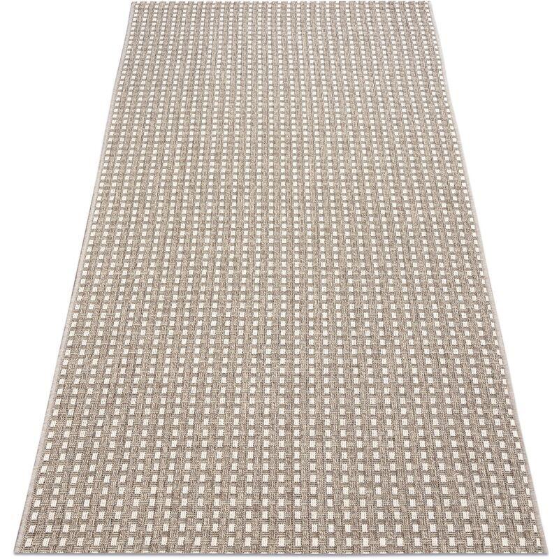 RUGSX Tapis, le tapis de couloir SIZAL BOHO 39003363 Lignes beige nuances de beige 60x225 cm