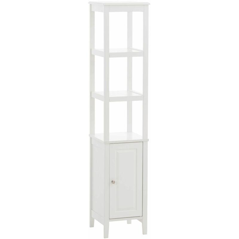 CLP - Etagère armoire Kemi en bois blanc