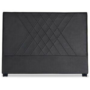 COTECOSY Tête de lit simili noir coutures en diagonale Madie 160 - Publicité