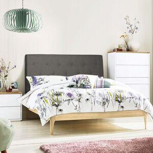 IDMARKET Tête de lit scandinave capitonnée Alta 140 cm tissu gris foncé - Publicité
