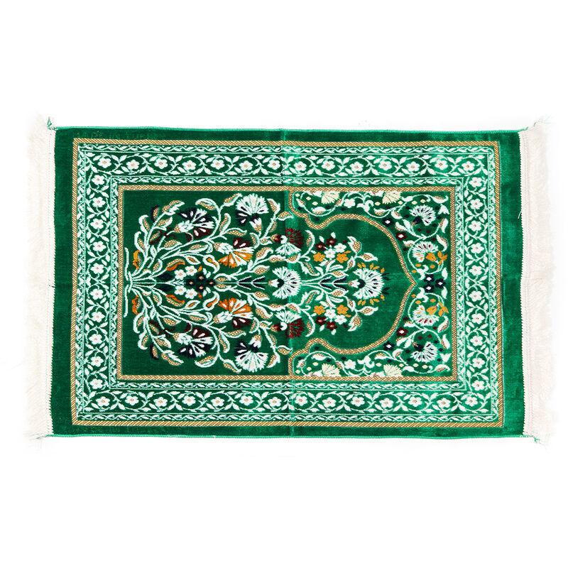 Manta - 70x110cm tapis de prière musulman tapis de prière tapis Salat Namaz Style arabe islamiquevert vert