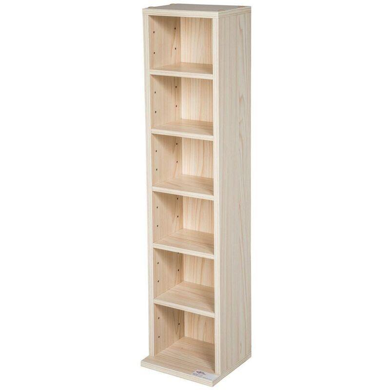 HELLOSHOP26 Armoire étagère rangement CD / DVD meuble de rangement pour 100 CDs bois - Bois