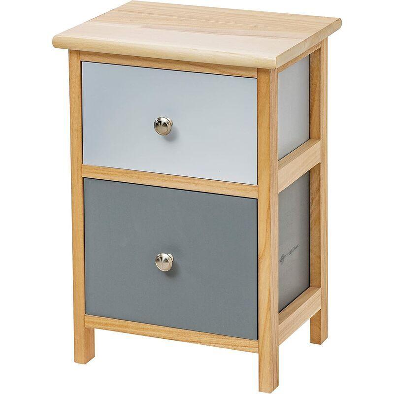 Baroni Home Table de chevet, meuble de salon, salon, chambre à coucher, chambre à coucher, salle de bain, meuble multi-usages, couleur bois naturel 2