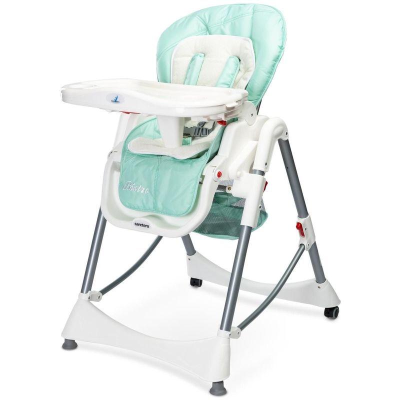 HUCOCO BISTRO - Chaise haute évolutive 2en1 + transat Bébe Enfant - Chaise repas dès 6 mois - Ajustable en hauteur - Grand plateau - Menthe
