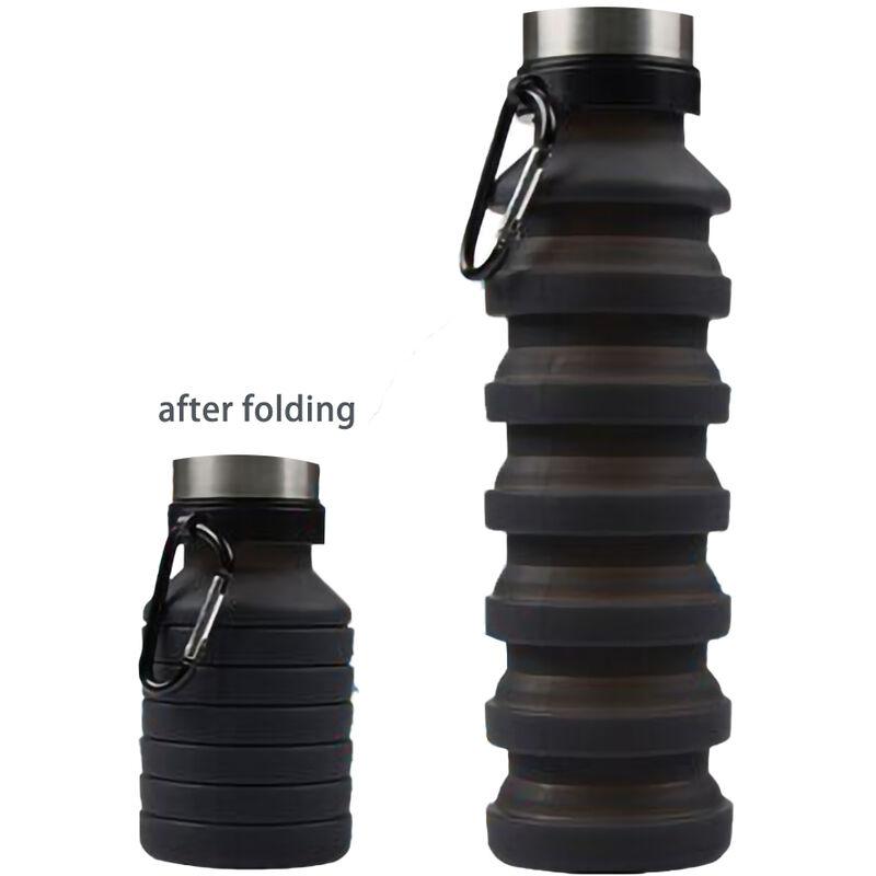 ZQYRLAR Bouteille d'eau pliable, bouteilles d'eau pliables en silicone sans BPA réutilisables pour voyage, gym, camping, randonnée, bouteille d'eau de sport