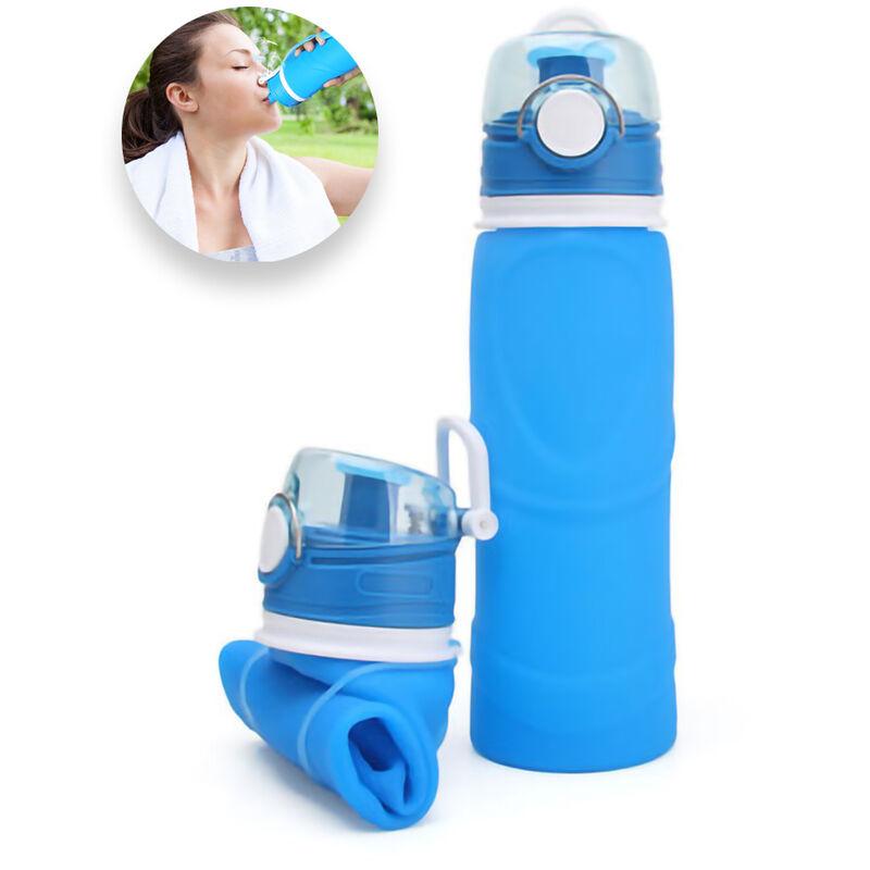 ZQYRLAR Bouteille d'eau pliable en silicone de qualité médicale, sans BPA, caractéristiques pliables enroulables pour le sport, bouteille d'eau d'extérieur