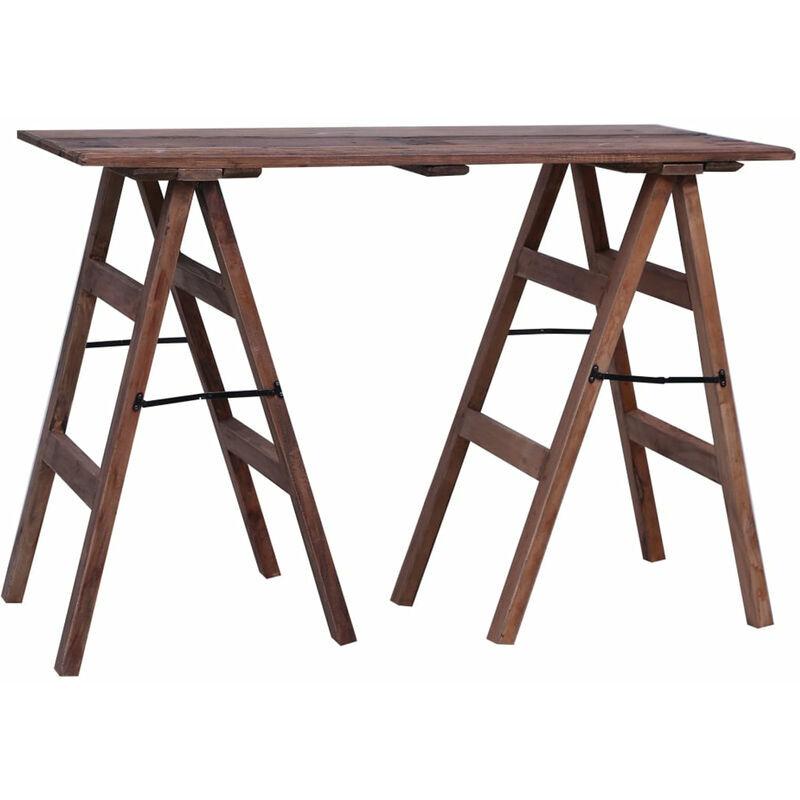 ASUPERMALL Table console 116x55x80 cm Bois de r¨¦cup¨¦ration massif