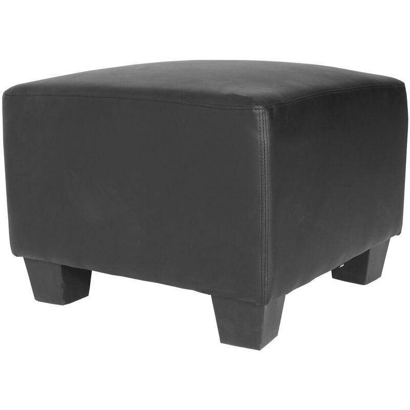 HHG - Canapé-élément pouf repose-pied Lyon, modulaire, simili-cuir, noir