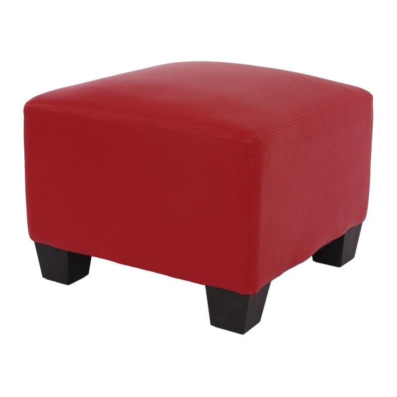HHG Canapé-élément pouf repose-pied Lyon, modulaire, simili-cuir, rouge