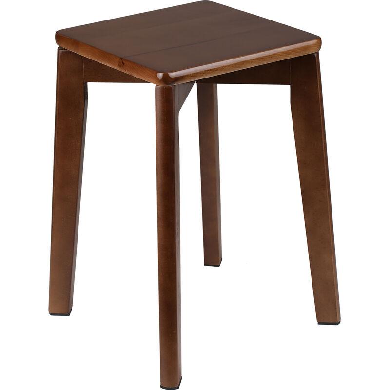 Happyshopping - KKmoon Chaise de menage en hetre assemblee tabouret en bois massif petit banc empilable carre tabouret en bois chaise portable pour