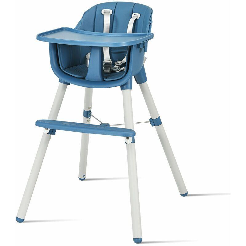 Décoshop26 - Chaise haute bébé convertible 3 en 1 pour 6 mois 3 ans hauteur réglable avec repose-pieds et plateau amovible charge 15kg - vert